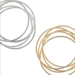 Dusted in Glamor Bangle Bracelet Set